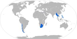 Soltam M-71 - Map of M-71 operators in blue