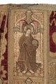 MCC-21689 Rode dalmatiek met annunciatie, visitatie en aanbidding der herders, Cyriacus, Petrus e.a. (6).tif