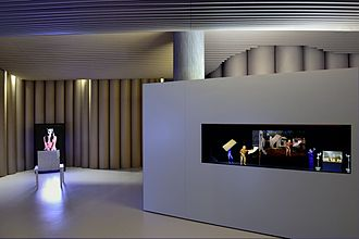 International Red Cross and Red Crescent Museum - Pierrick Sorin: Cyclone, théâtre optique, 2013 (right)