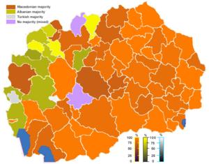 Demographics of the Republic of Macedonia - Image: MKD muni nonn(Ethnic)