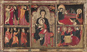 Altar frontal from Avià - Image: MNAC.Barcelona Romànic.Fontal d'Avià