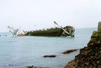 MV Cita - Image: MV Cita wrecked on the Isles of Scilly