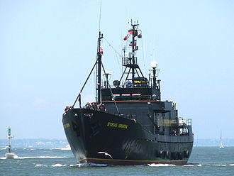 Whale conservation - MY ''Steve Irwin'' a Sea Shepherd anti-poaching vessel