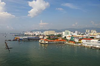 Penang Strait - The South Channel along the eastern shoreline of George Town
