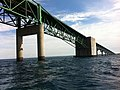 Mackinac Bridge from Straits of Mackinac during boat tour - 0063.jpg