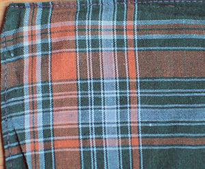Madras (cloth) - A handkerchief with a typical Madras pattern