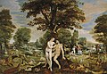 Maerten de Vos - The Garden of Eden, with the Fall of Man, the Creation of Eve, and the Expulsion from the Garden.jpg