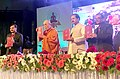 "Mahesh Sharma and His Holiness the Dalai Lama at the inauguration of the ""International Buddhist Conference"", organised by the Ministry of Culture and Nava Nalanda Mahaviahra, Deemed University, at Rajgir, Bihar.jpg"