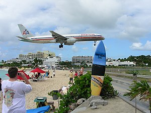 Maho Beach, near Princess Juliana Airport, Caribbean island of Saint Martin-8Feb2008 (2).jpg
