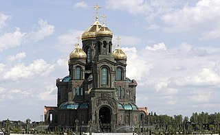 Main Cathedral of the Russian Armed Forces Church in Moscow Oblast, Russia