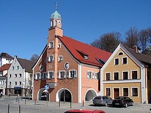 Mainburg - Town Hall on the market square