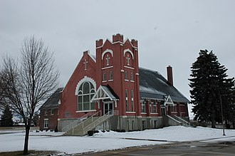 National Register of Historic Places listings in Oneida County, Idaho - Image: Malad Idaho Tabernacle