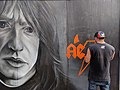 Malcolm Young street art (Nov 2017).jpg