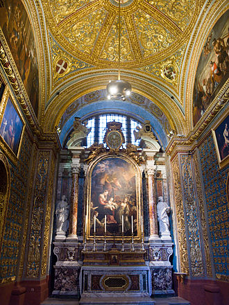 Saint John's Co-Cathedral - Chapel of the Langue of Italy