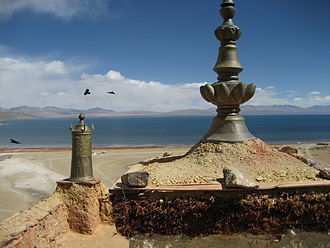 Lake Manasarovar - View from Chiu Gompa Monastery
