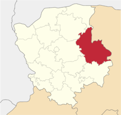 Location of Maneviču rajons
