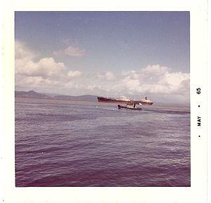 SS Manhattan (1962) - SS Manhattan passing Astoria, Oregon, 1965.