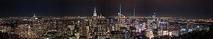 Manhattan at night south of Rockefeller Center panorama (11263p).jpg