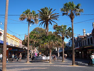 The Corso, Manly major pedestrian street in Sydney
