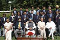 Manmohan Singh with the medal winners of Commonwealth Games held recently at Melbourne, in New Delhi. The Union Minister for Panchayati Raj, Youth Affairs & Sports, Shri Mani Shankar Aiyar, the Lt. Governor of Delhi.jpg