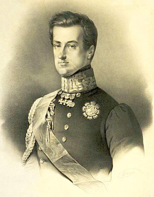 Mansi - ritratto di Carlo Alberto di Savoia - litografia - ca. 1860