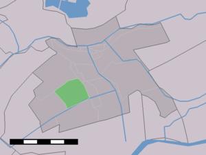 Benedenkerk - Image: Map NL Vlist Benedenkerk
