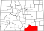 Map of Colorado highlighting Las Animas County.svg