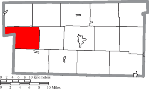 Knox Township, Holmes County, Ohio - Image: Map of Holmes County Ohio Highlighting Knox Township