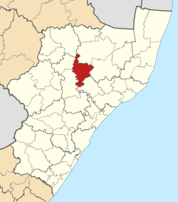 Location in KwaZulu-Natal
