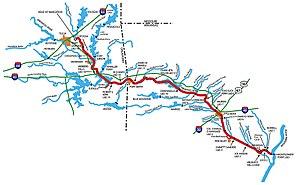 McClellan–Kerr Arkansas River Navigation System - Map of McClellan–Kerr Arkansas River Navigation System