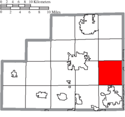 Location of Sharon Township in Medina County