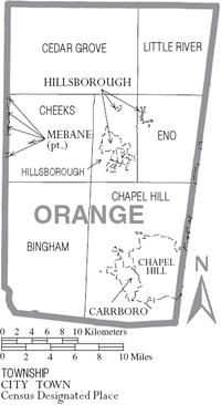 Orange County North Carolina Wikipedia - Map of no carolina