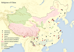 Religion In China Wikipedia - World religion map wikipedia