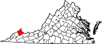 State map highlighting Buchanan County