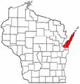 Map of Wisconsin highlighting Door Peninsula.PNG