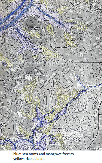 Biombo Region - Map of mangroves and bolanhas