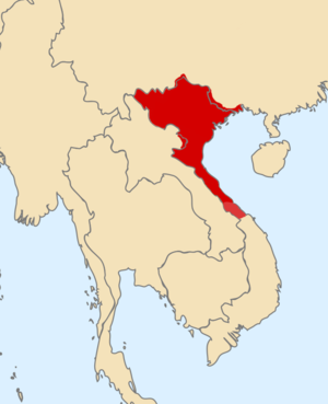Trần dynasty - Map of the Trần dynasty