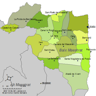 Baix Maestrat - Municipalities of Baix Maestrat
