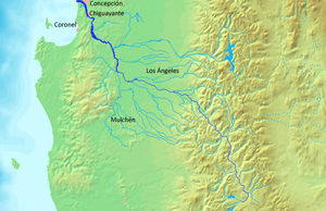 Biobío River -  Map