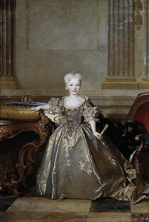 Marie Anne de Bourbon - The Infanta Marie Anne Victoire, fiancée of Louis XV, who was put in Marie Anne's care from 1721-1725