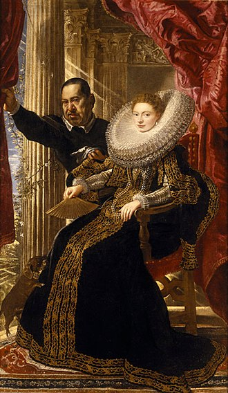 Portrait of a Noblewoman with a Dwarf - c.1606 portrait by Peter Paul Rubens