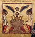 Margaritone d'arezzo, madonna col bambino in trono e scene religiose, 1263-64 ca. 03 giovanni evangelista nel calderone.jpg