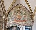 Maria Saal Pfarrkirche Mariae Himmelfahrt Vorhalle Fresko thronende Madonna 30062017 0062.jpg