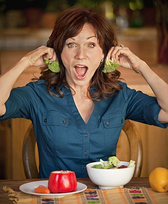 "Marilu Henner - With broccoli ""earrings"", 2010"