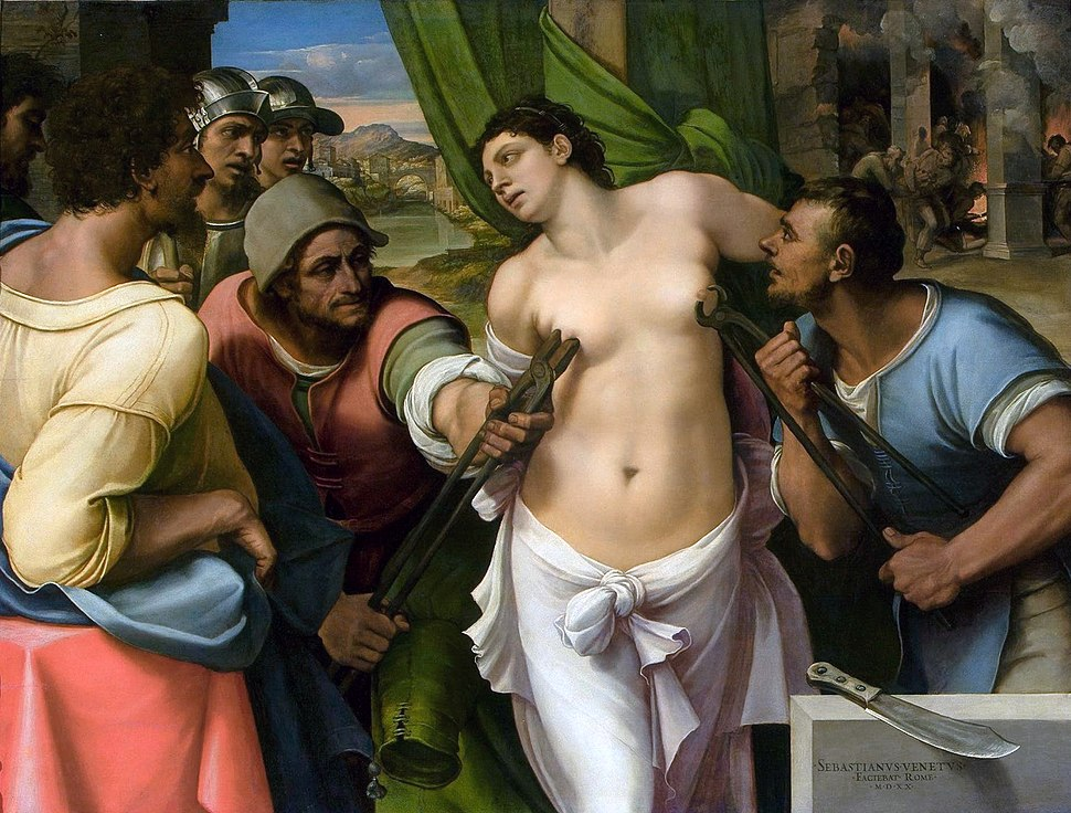 Martirio de Santa Águeda, por Sebastiano del Piombo