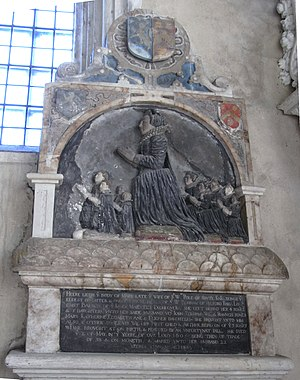 William Pole (antiquary) - Monument to Pole's first wife, Mary Periham, in the Pole Chapel, Colyton Church, Devon