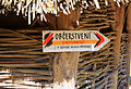 Matongo exposition, Zoo Jihlava, restaurant signpost.jpg