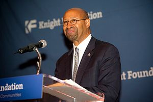 Michael Nutter - Nutter speaks to the Knight Foundation in 2012.