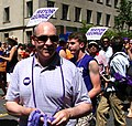 Mayor Smitherman Giving Out Leis at Toronto Pride 2010 Parade.jpg