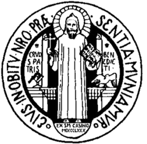 St Mary de Pratis - Image: Medalla San Benito